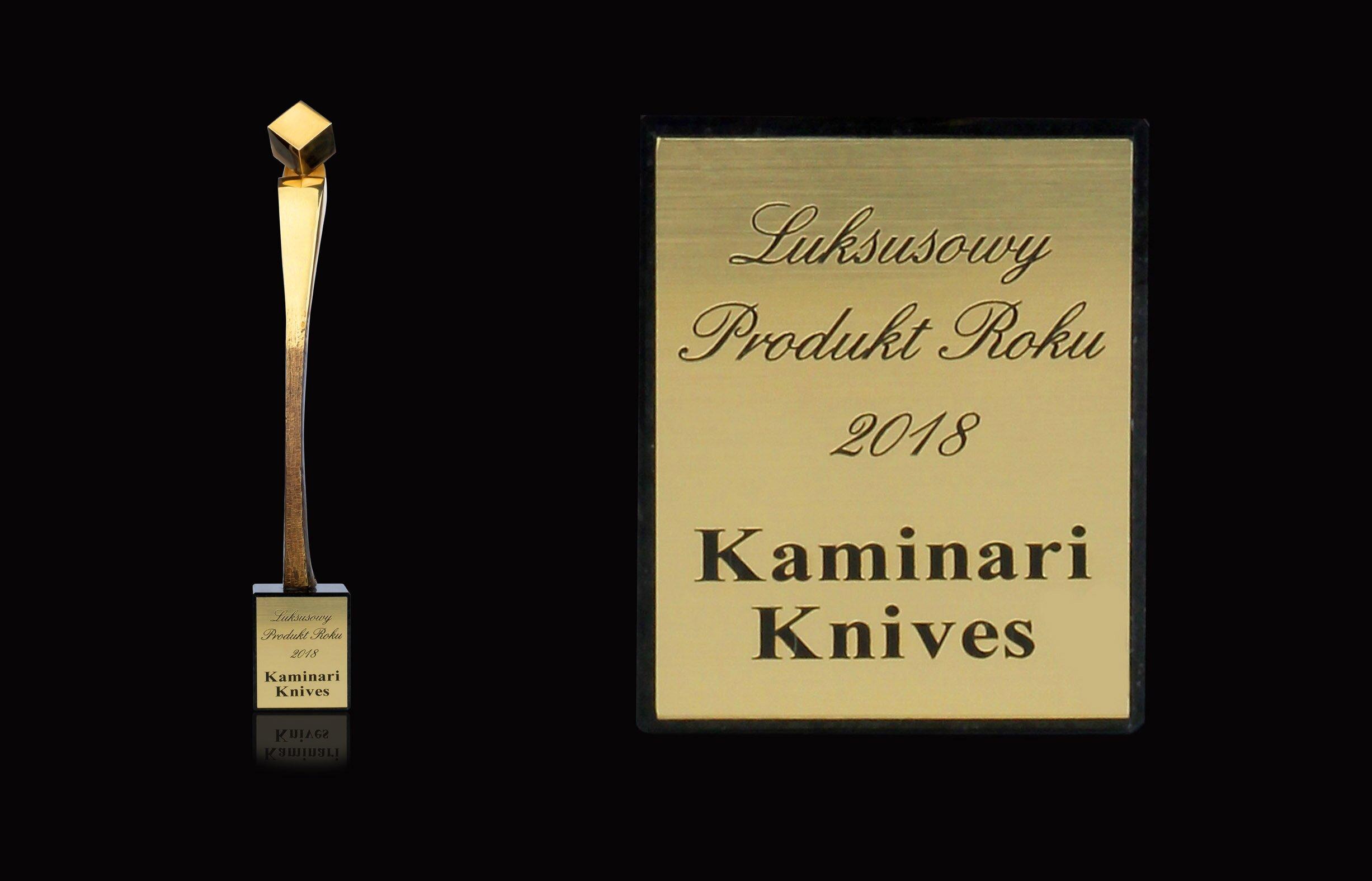 "Statuetka ""Luksusowy Produkt Roku 2018"" Kaminari Knives"